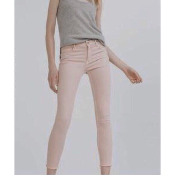 ZARA Z1975 Blush Pink Skinny Jeans
